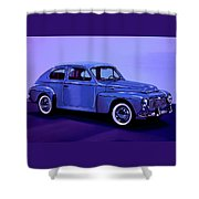 Volvo Pv 544 1958 Mixed Media Shower Curtain
