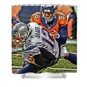 Von Miller Denver Broncos Art Shower Curtain