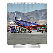 Voodoo Engine Start Sunday Gold Unlimited Reno Air Races Shower Curtain