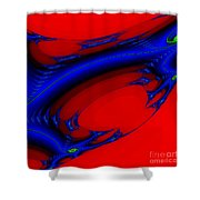 Vortex Extreme Fractal Shower Curtain