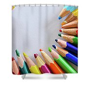 Vortex Of Colored Pencils Shower Curtain