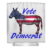 Vote Democrat Shower Curtain