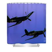 Vought F-4u Corsairs Shower Curtain
