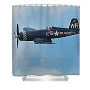 Vought F4u-5 Corsair Shower Curtain