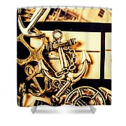 Voyage In Historical Boating Shower Curtain