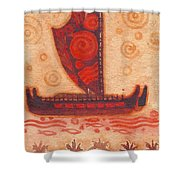 Voyaging Canoe 1 Shower Curtain