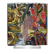 Vsp Xv  Butter-fly-wing Shower Curtain