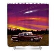Vintage Stars Shower Curtain