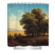 Vue Af Romerska Campagnan Shower Curtain