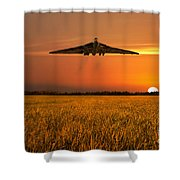 Vulcan Farewell Fly Past Shower Curtain