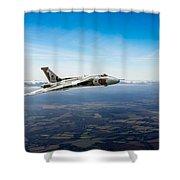 Vulcan In Flight 2 Shower Curtain