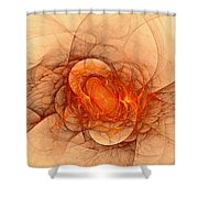 Vulcans Fire Shower Curtain