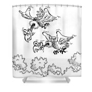 Vultures Shower Curtain