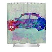 Vw Beetle Watercolor 1 Shower Curtain