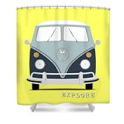 Vw Bus Blue Shower Curtain
