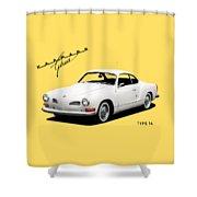 Vw Karmann Ghia Shower Curtain by Mark Rogan