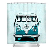 Vw Van Graphic Artwork Shower Curtain