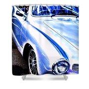 Vw Vintage Sports Car Shower Curtain