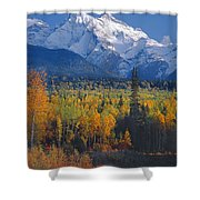 102238-v-w End Of Seven Sisters Mountain  Shower Curtain