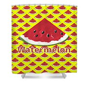 W Is For Watermelon Shower Curtain
