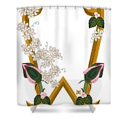 W Is For Wonderful Shower Curtain