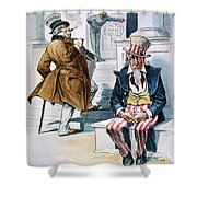 W. Mckinley Cartoon, 1896 Shower Curtain
