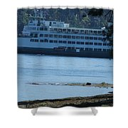 Wa State Ferry In Manchester Shower Curtain