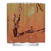 Wabi Sabi Ikebana Shower Curtain