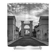 Waco Historical Suspension Bridge Shower Curtain