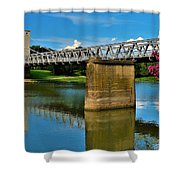 Waco Suspension Bridge 2 Shower Curtain