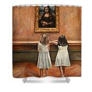 Watching mona lisa painting by escha van den bogerd for Mona lisa shower curtain
