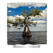 Wading Across The Lake Shower Curtain