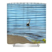 Wading Heron Shower Curtain