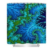 Fractal Art - Wading In The Deep Shower Curtain