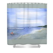 Wading In The Water Shower Curtain