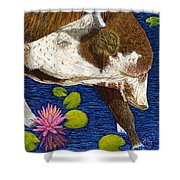 Wading Repose Shower Curtain