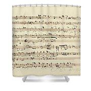 Wagner, Richard Autograph Working Drafts For Act I Of Der Fliegende Hollander Shower Curtain