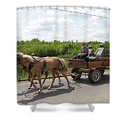 Wagon 10 Shower Curtain