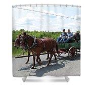 Wagon 12 Shower Curtain