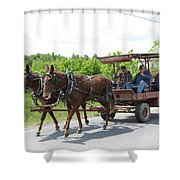 Wagon 8 Shower Curtain