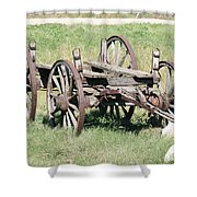 Wagon Aged Shower Curtain