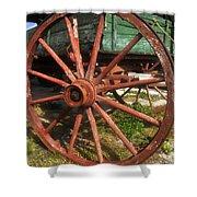 Wagon And Wheel Shower Curtain