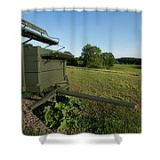 Wagon At Wagon Hill Farm In Durham New Hampshire Shower Curtain