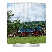 Wagon Hoa Shower Curtain