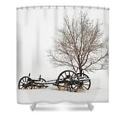 Wagon In The Snow Shower Curtain