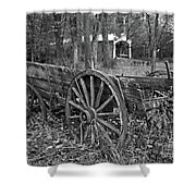 Wagon In The Woods Shower Curtain
