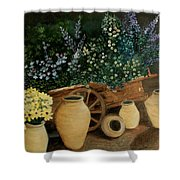 Wagon Of Fall Beauty Shower Curtain