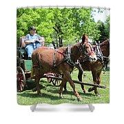 Wagon Supply Shower Curtain