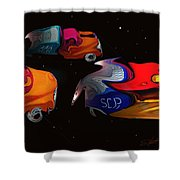 Wagon Train To The Stars 2 Shower Curtain