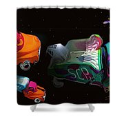 Wagon Train To The Stars 3 Shower Curtain